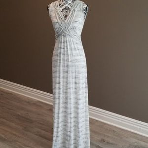 Cream Heathered Maxi Dress
